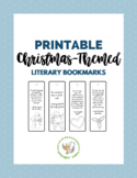 Christmas-Themed Printable Literary Bookmarks