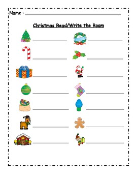 Christmas Themed Read and Write the Room