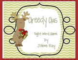 Christmas Themed Reindeer Sight Word Game: 'Greedy Gus'