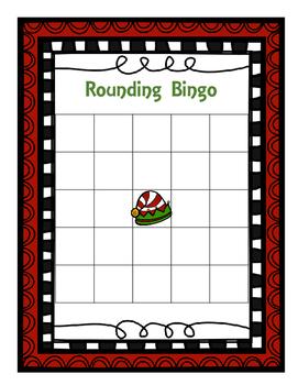 Christmas Themed Rounding Bingo (Tens Place)