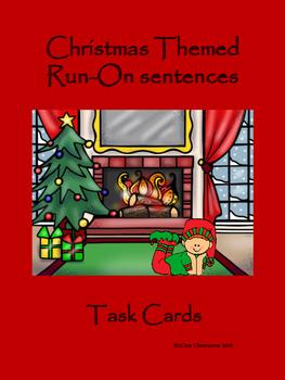 Christmas Themed Run-On Sentence Task Cards
