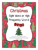 Christmas Themed Sight Word Bingo