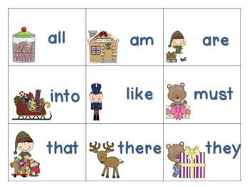 Christmas Themed Sight Word Games (preprimer & primer lists)