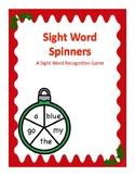 Christmas Themed Pre- K Sight Word Spinner Center