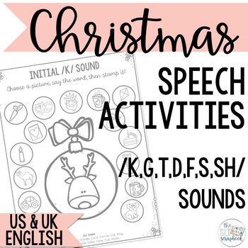 Christmas Themed Speech Sound Worksheets- No Prep