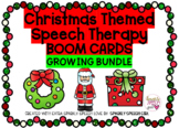 Christmas Themed Speech Therapy BOOM CARDS GROWING BUNDLE