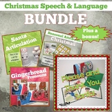 Christmas Themed Speech and Language Activities BUNDLE