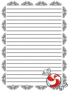 Christmas Themed Stationery Paper