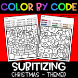 Christmas Subitizing | No Prep Color By Number Activities