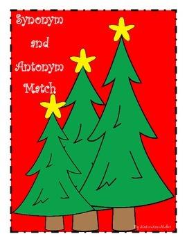 Christmas Themed Synonym and Antonym Match