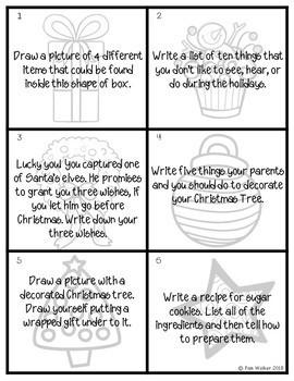 Christmas Themed Task Cards for Language Arts