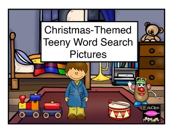 Christmas Themed Teeny Hidden Word Pictures