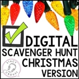 Christmas Themed Teletherapy Digital Scavenger Hunt Intera