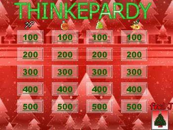 Christmas-Themed Thinkepardy Game Template