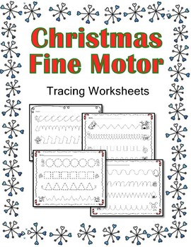 Christmas Themed Tracing Pages