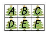 "Christmas Themed Uppercase Letter Recognition Game ""Where"