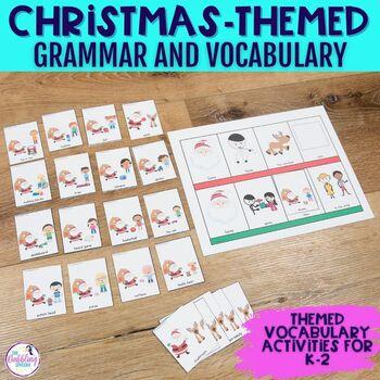 Christmas Themed Vocabulary & Grammar Activities