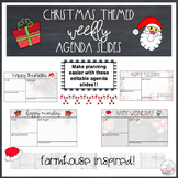 Christmas Themed Weekly Agenda Slides