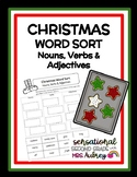 Christmas Themed Word Sort- Nouns, Verbs, Adjectives