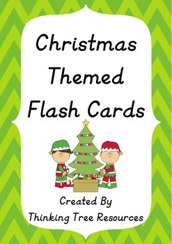 Christmas Themed Word Wall Flashcards