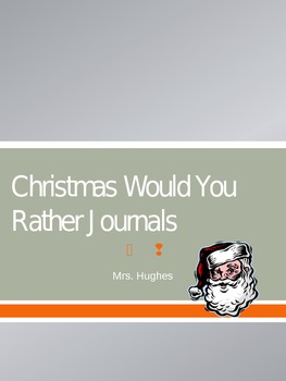 Christmas-Themed Would You Rather Journals