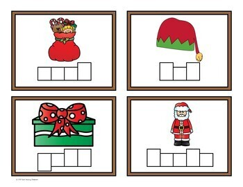 Christmas Themed - Write the Room Activity