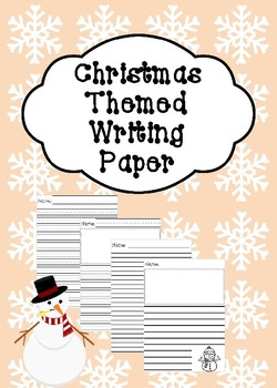 Christmas Themed Writing Paper