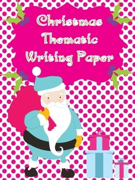 Christmas Themed Writing Paper...Fun Comtemporary Colors