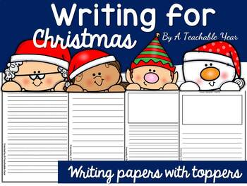 Christmas Themed Writing Papers {Free}