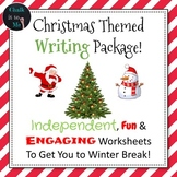 Christmas Themed Writing Worksheet Package