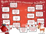 Christmas Themed 'wh' Questions Board Game- SPANISH