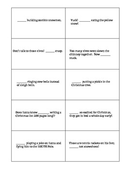 Christmas There Their They're Silly Sentences Card Game - fun with homophones