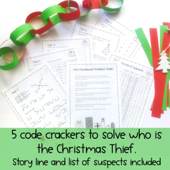 Christmas Thief - Crack the Code - Math Task -  Free Download