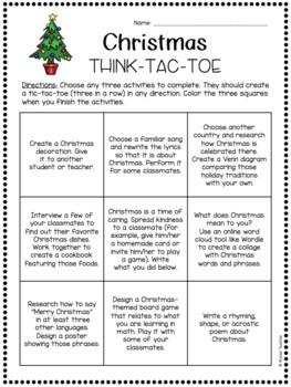 Christmas Think-Tac-Toe