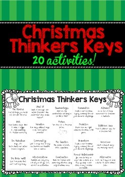 Christmas Thinkers Keys