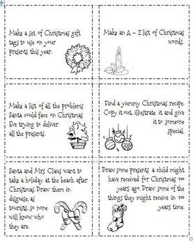 Christmas Thinking and Literacy Activities MiniKit - 2
