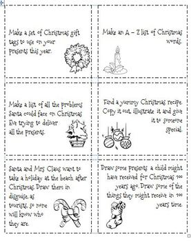 Christmas Thinking and Literacy Activities MiniKit - 3
