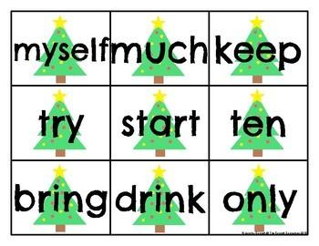Christmas Third Grade Sight Word Cards