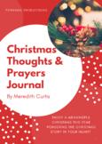 Christmas Thoughts & Prayers Journal
