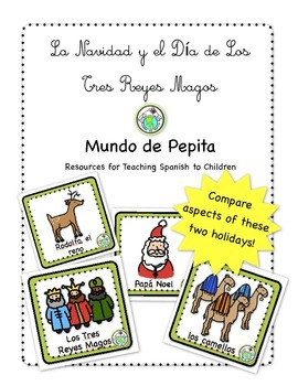 Christmas Three Kings Day Bilingual Holiday Printable Span