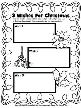 Christmas - Writing 3 Wishes