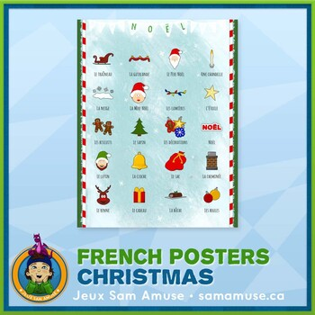 French Christmas Thumbnails Poster
