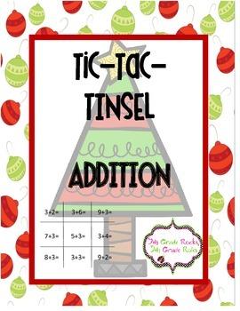 Christmas Tic Tac Tinsel Addition Freebie