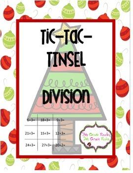 Christmas Tic Tac Tinsel Division Game Freebie