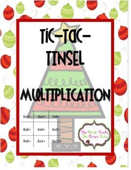 Christmas Tic Tac Tinsel Multiplication Freebie