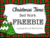 Christmas Time Bell Work Freebie