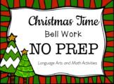 Christmas Time Bell Work NO PREP