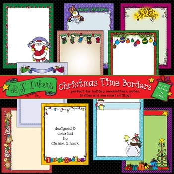 Christmas Time Borders Clip Art Download