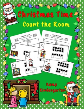 Christmas Time Ten Frames Count the Room (Quantities to 20)