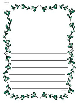 FREEBIE!  Christmas time writing papers